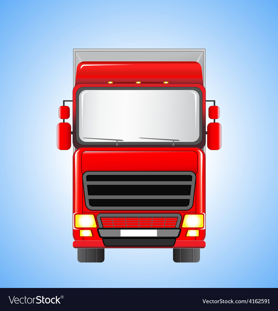 Shipping truck on sky background vector | Price: 1 Credit (USD $1)