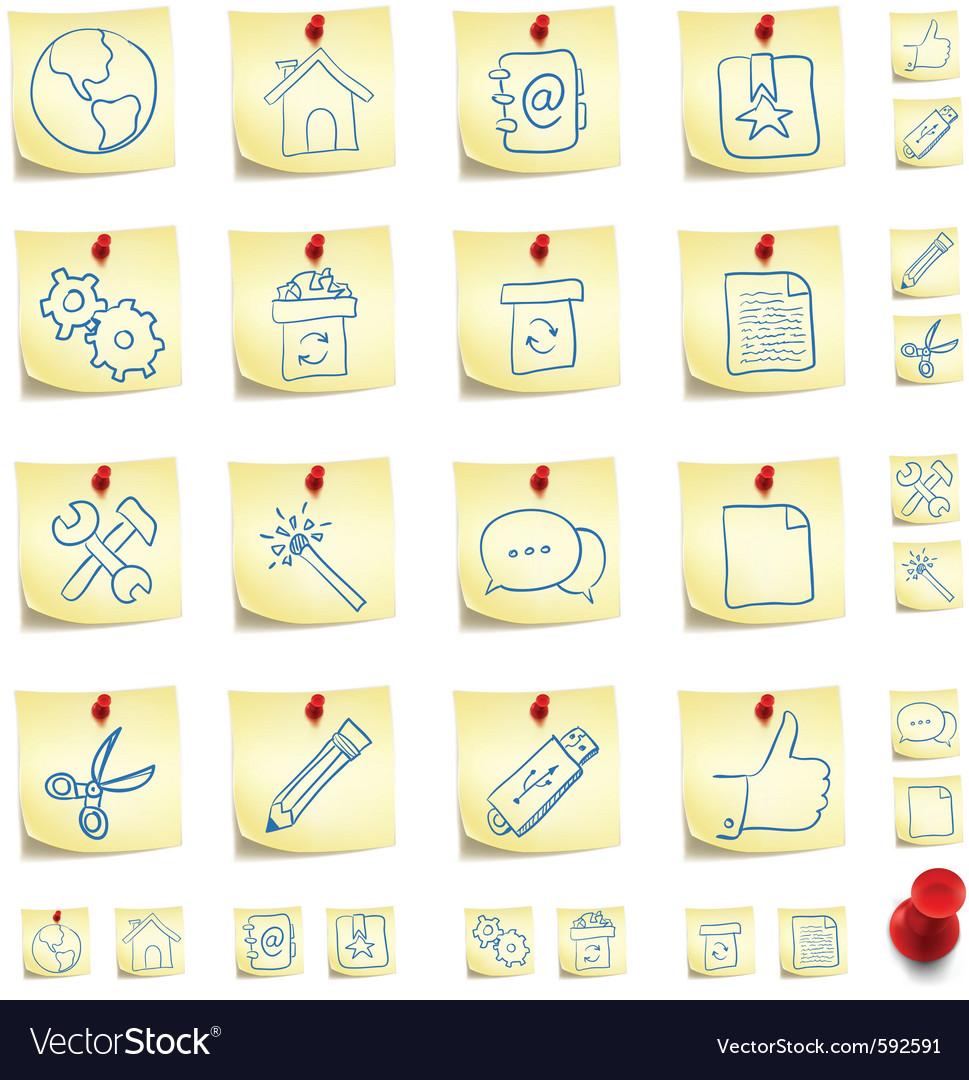 Sticker icon set vector | Price: 1 Credit (USD $1)