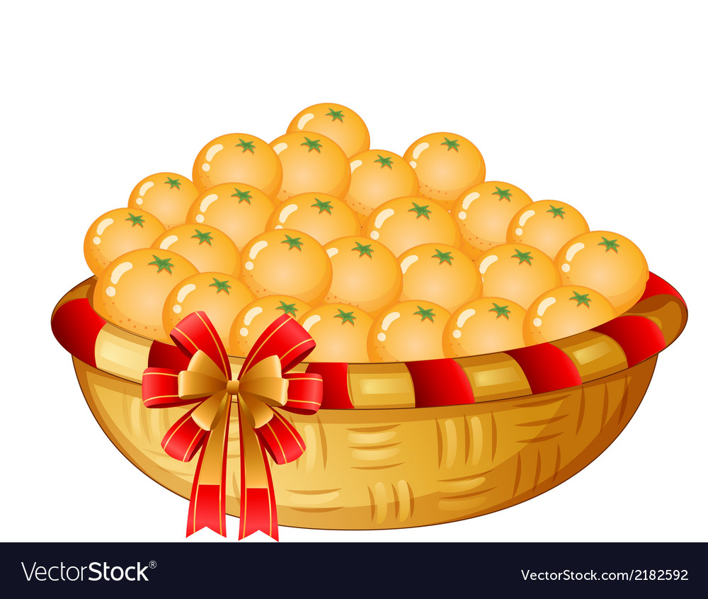 A basket of oranges vector | Price: 1 Credit (USD $1)