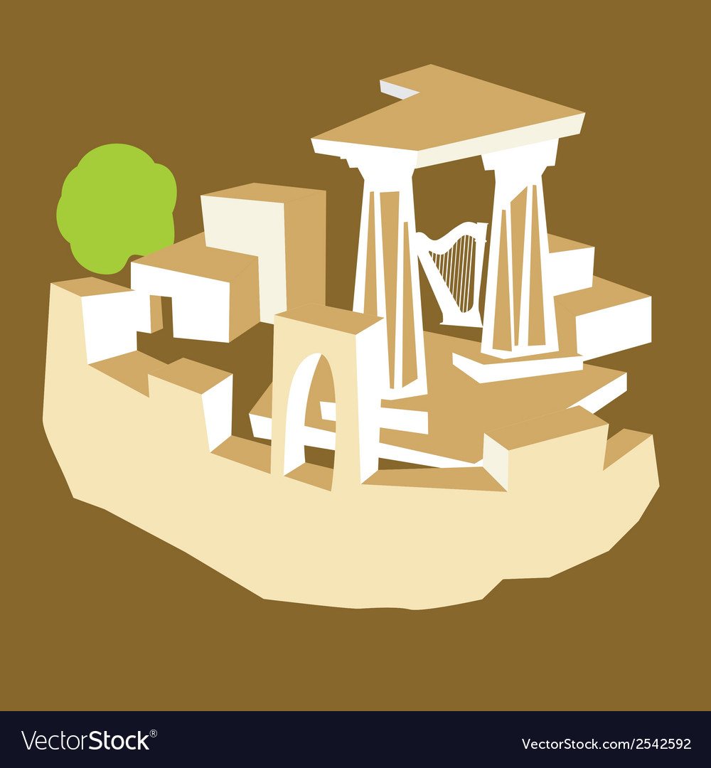 Ancient ruins vector | Price: 1 Credit (USD $1)