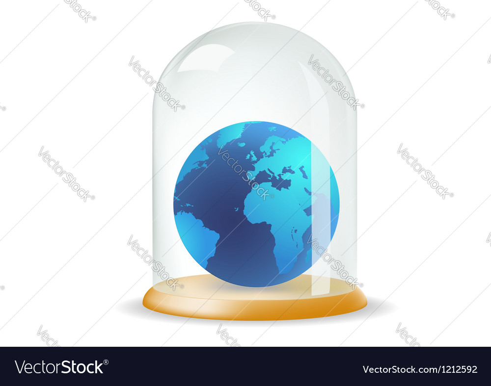 Earth covered with a glass cover vector | Price: 1 Credit (USD $1)