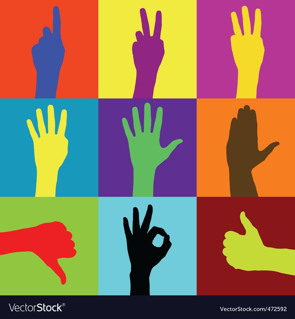 Hand design vector | Price: 1 Credit (USD $1)