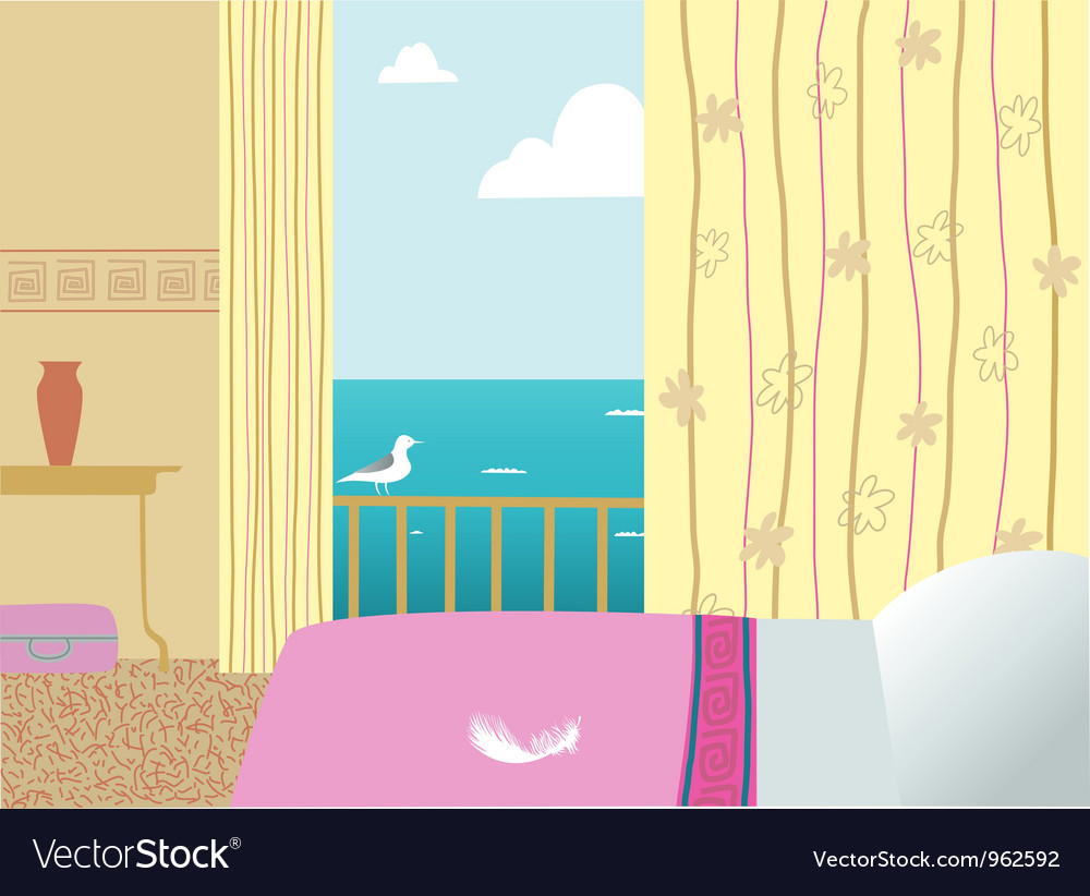 Hotel room vector | Price: 1 Credit (USD $1)