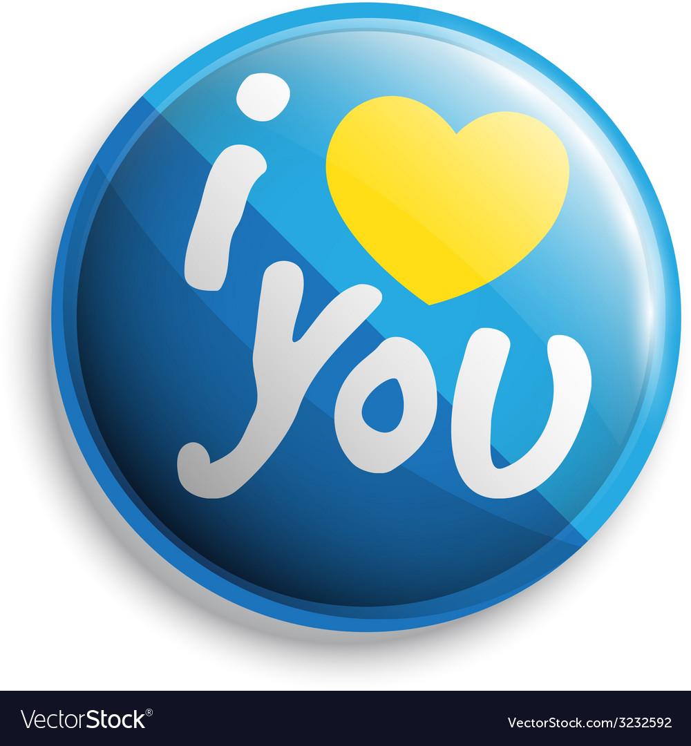 I love u button vector | Price: 1 Credit (USD $1)