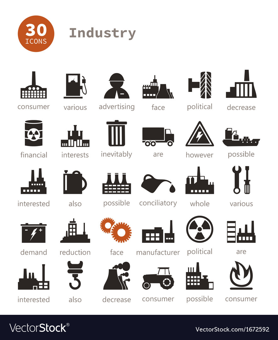Industrial icons9 vector | Price: 1 Credit (USD $1)