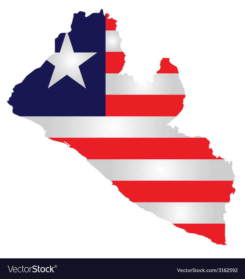 Liberia flag vector | Price: 1 Credit (USD $1)