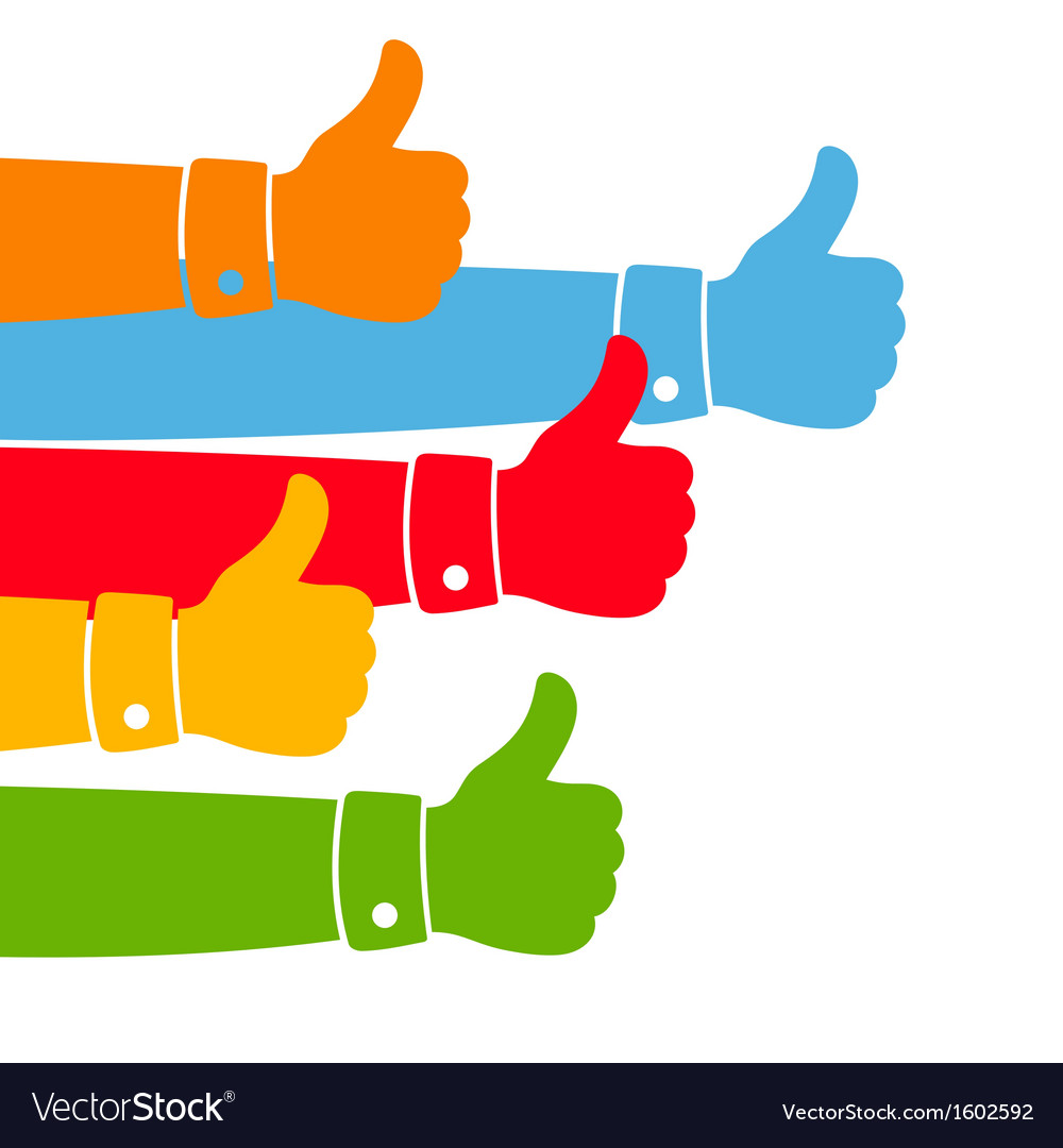 Like and thumbs up vector