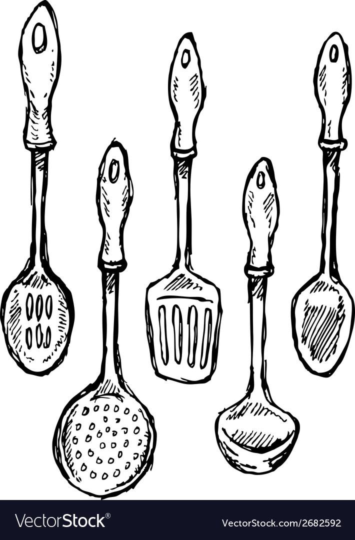 Scribble series kitchen utensils 1 vector   Price: 1 Credit (USD $1)