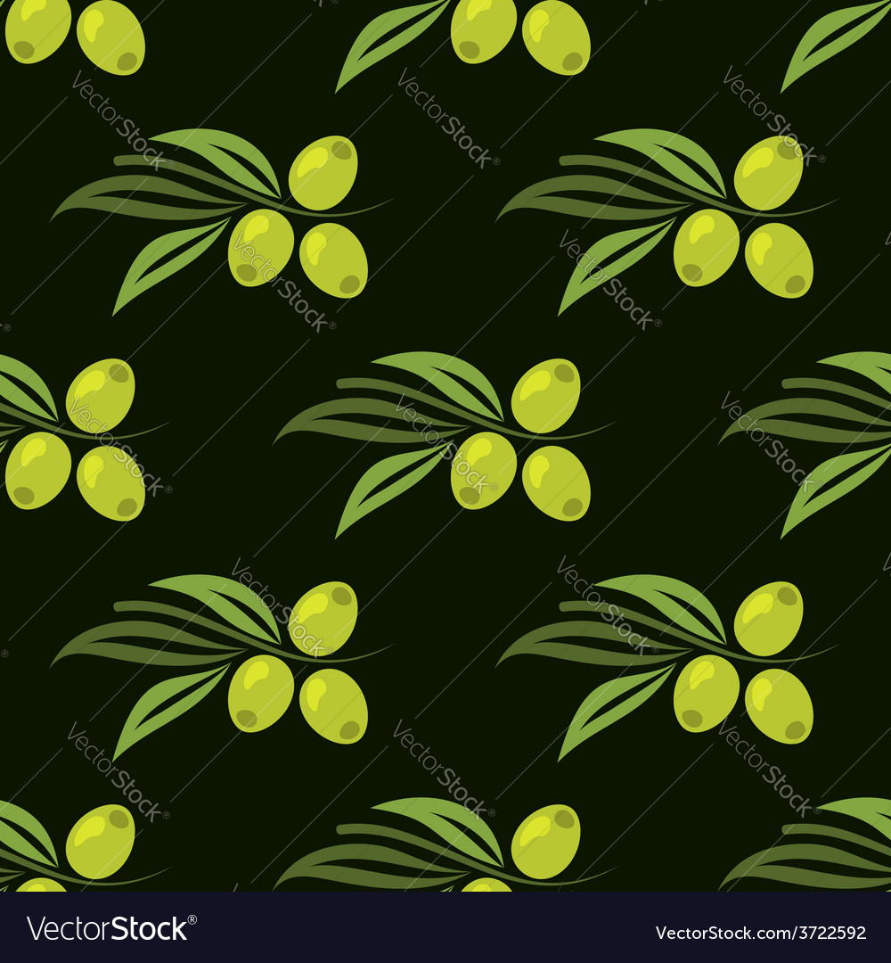 Seamless pattern with green olives vector | Price: 1 Credit (USD $1)