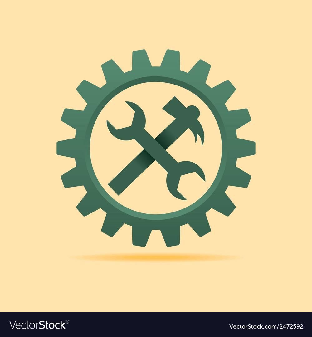 Tools icon inside the cog wheel stock vector | Price: 1 Credit (USD $1)