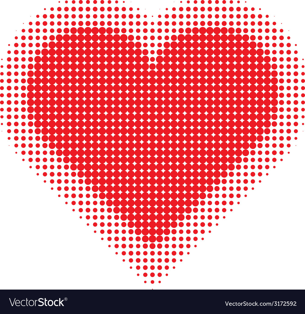 Valentine heart halftone for your design vector | Price: 1 Credit (USD $1)