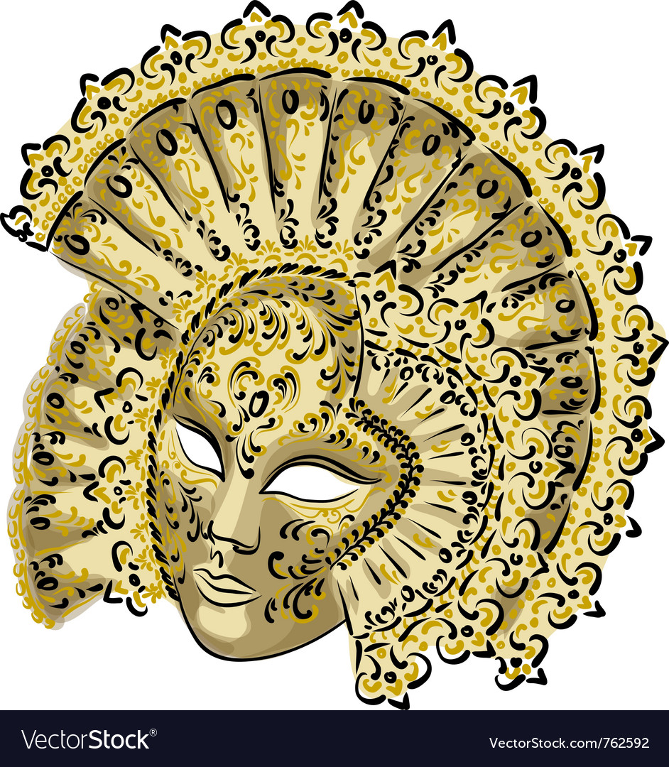 Venetian carnival mask vector | Price: 3 Credit (USD $3)