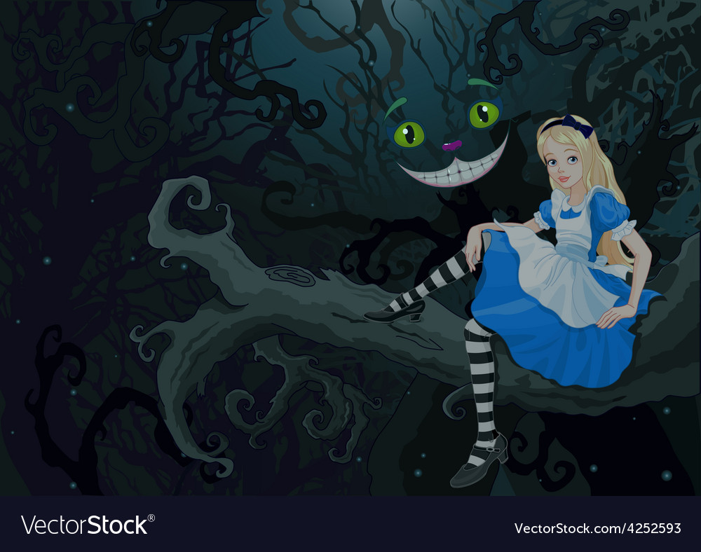 Alice in wonder forest vector | Price: 5 Credit (USD $5)