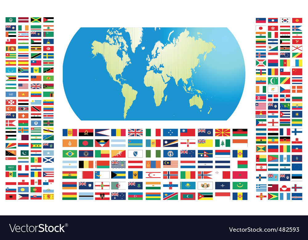 All flags of the world vector | Price: 1 Credit (USD $1)