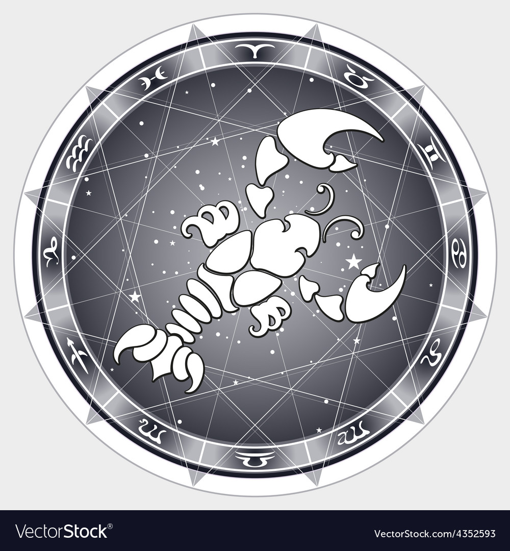 Cancer zodiac sign vector | Price: 1 Credit (USD $1)