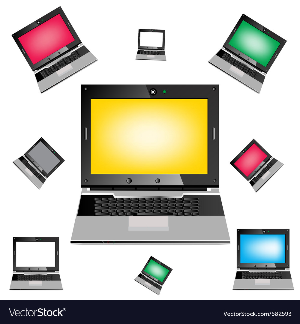 Computers vector | Price: 1 Credit (USD $1)