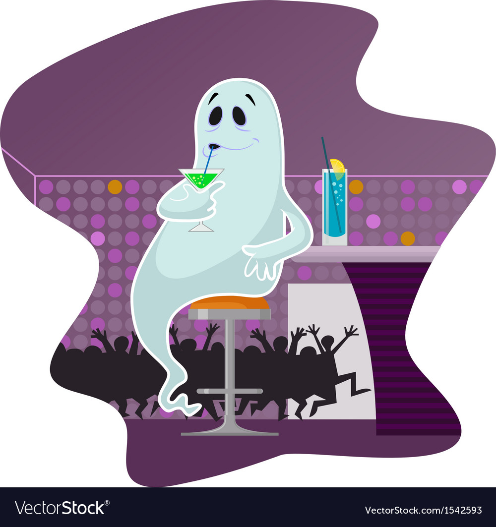Ghost in the bar vector | Price: 3 Credit (USD $3)