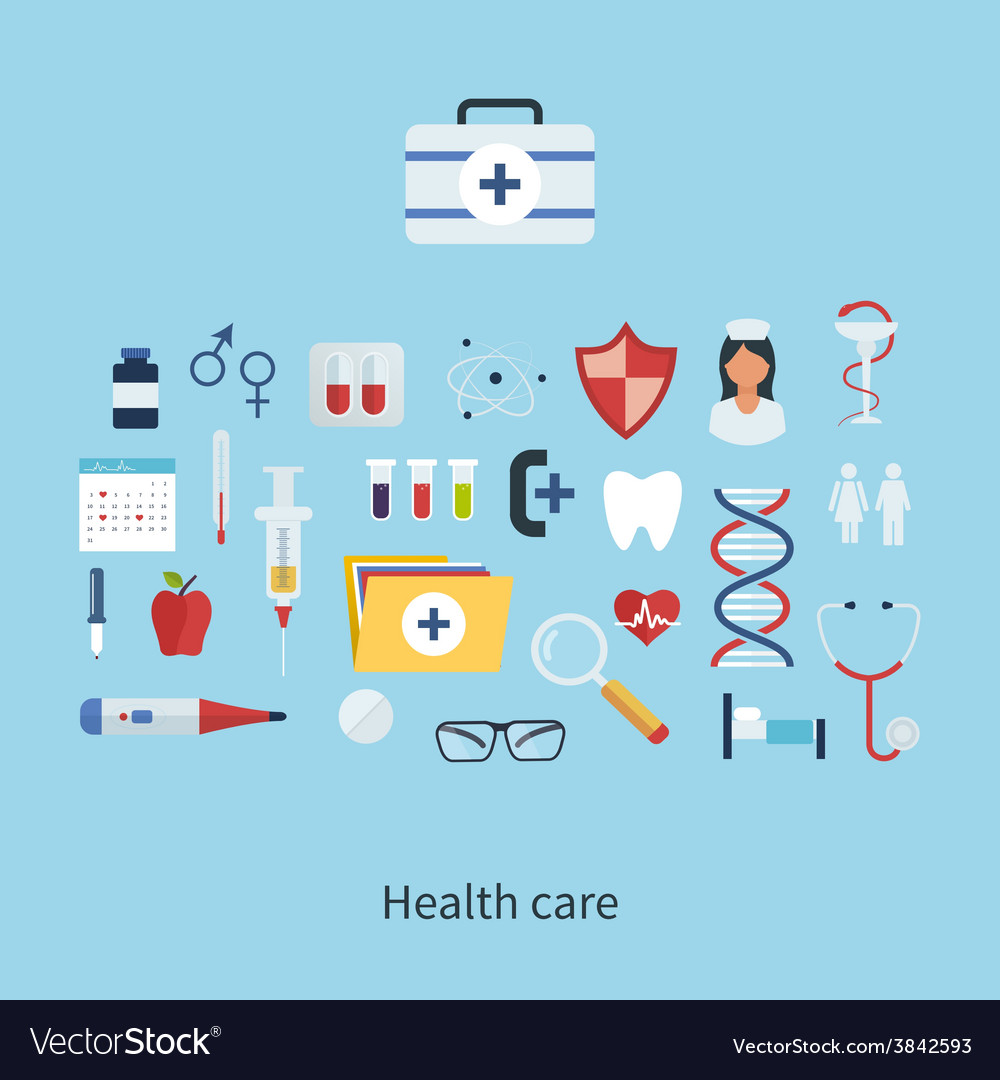 Health care and medical research vector | Price: 1 Credit (USD $1)