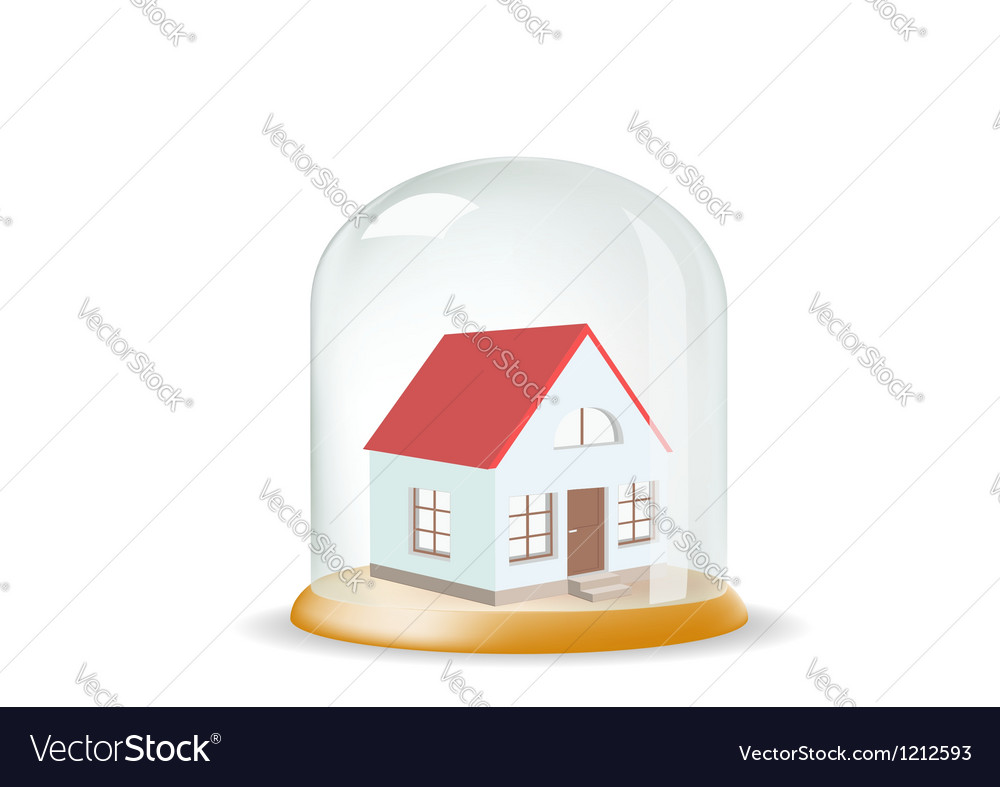 House covered with a glass cover vector | Price: 1 Credit (USD $1)