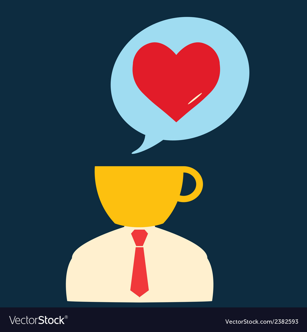 Icon man thinking about romance vector | Price: 1 Credit (USD $1)