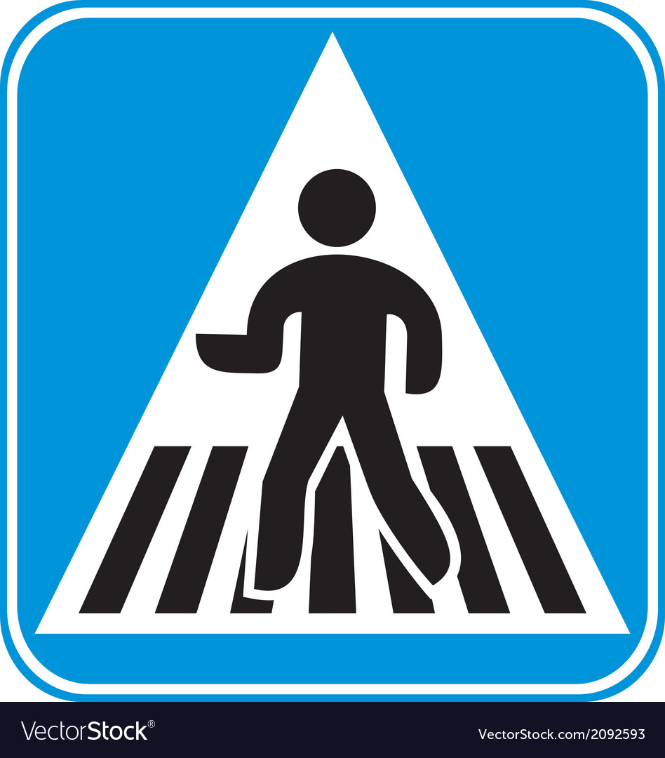 Pedestrian crossing sign vector | Price: 1 Credit (USD $1)