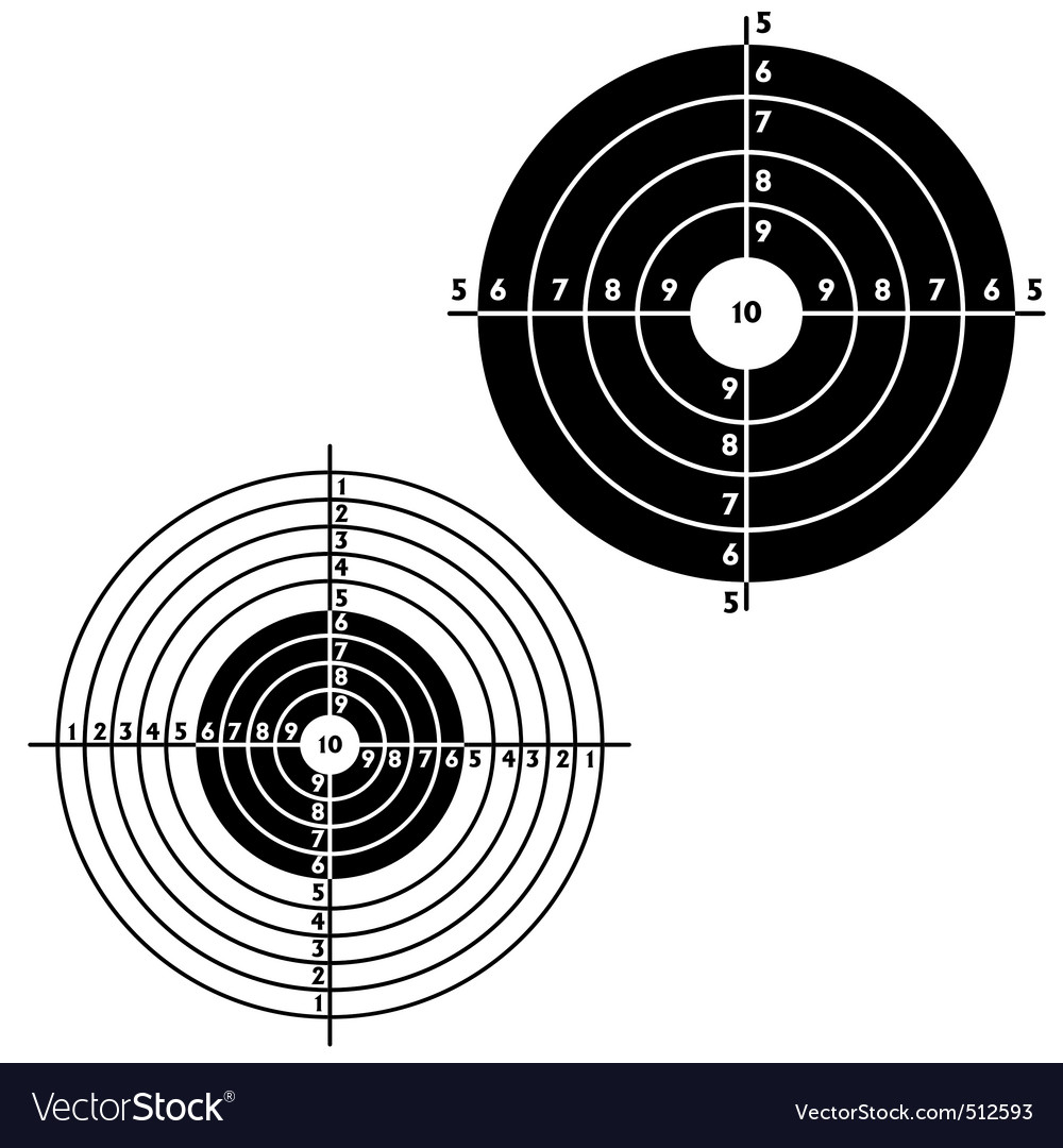 Set targets for practical pistol shooting vector | Price: 1 Credit (USD $1)