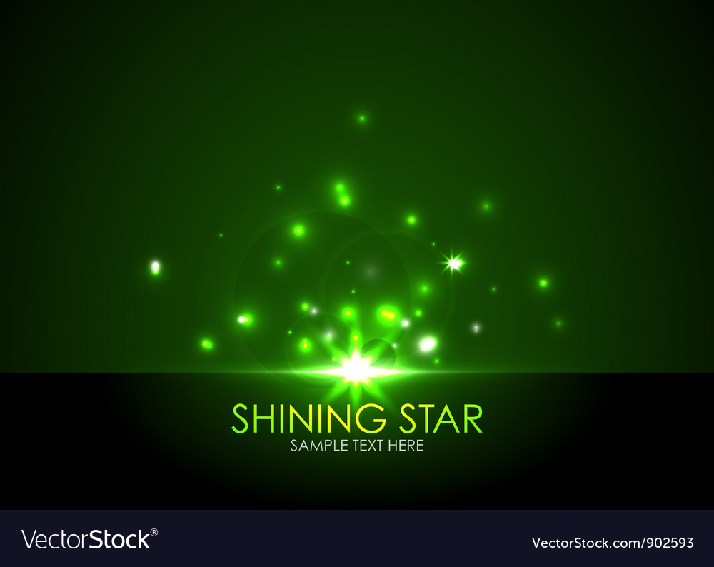 Shining star vector | Price: 1 Credit (USD $1)
