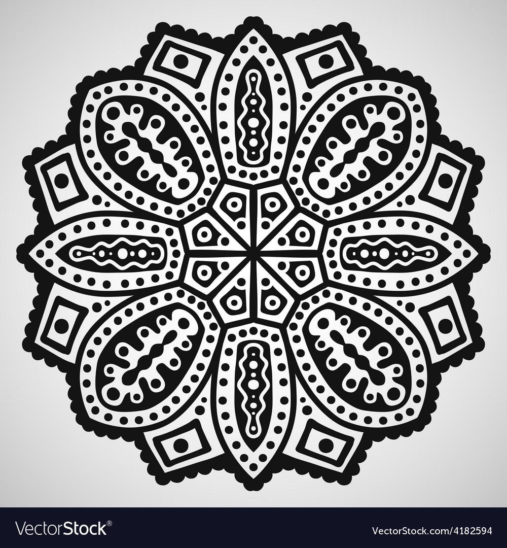 Beautiful ornament on white background vector | Price: 1 Credit (USD $1)