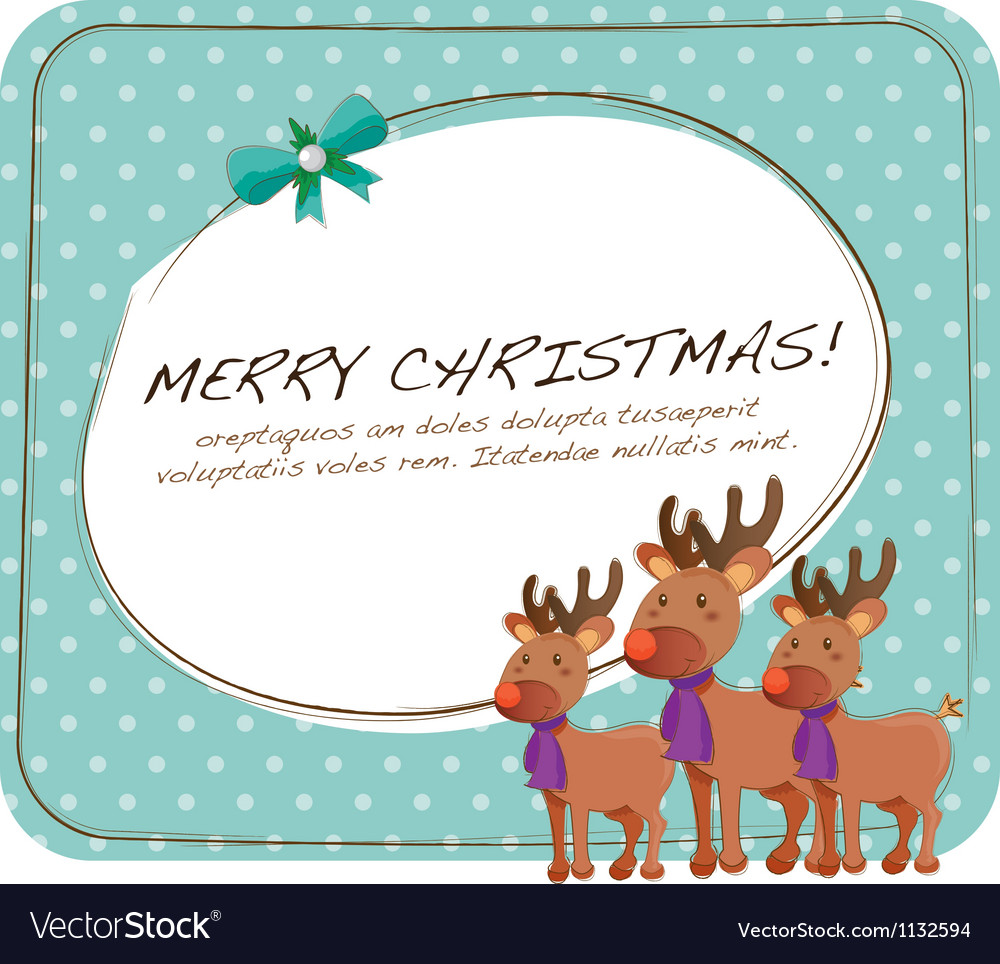 Cute christmas cards vector