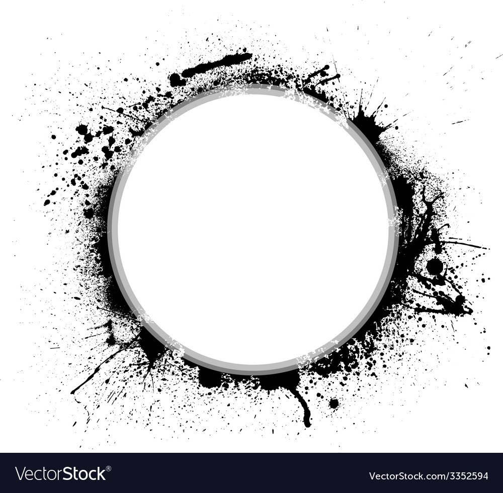 Ink blots circle vector | Price: 1 Credit (USD $1)