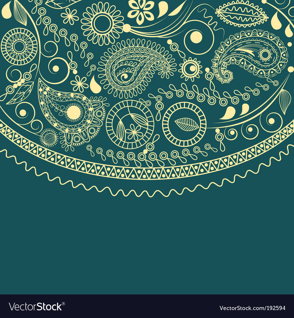 Paisley festive frame vector | Price: 1 Credit (USD $1)