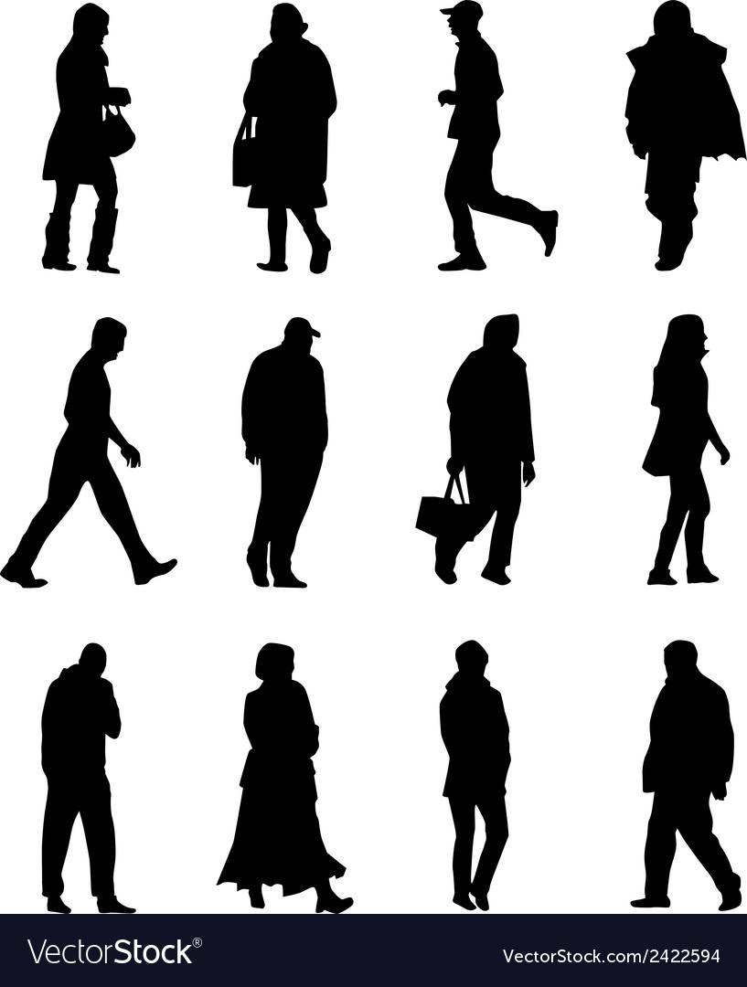 People walking vector | Price: 1 Credit (USD $1)