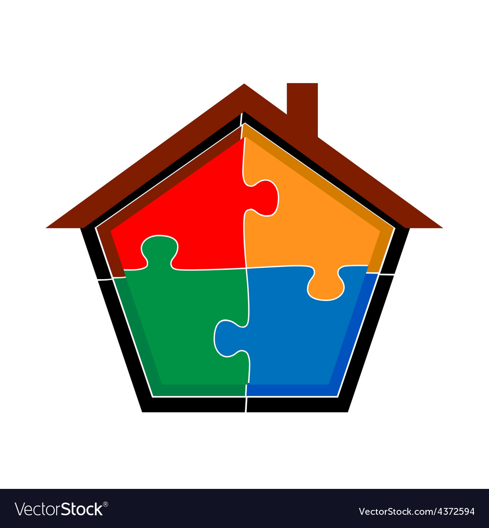 Puzzle home vector | Price: 1 Credit (USD $1)
