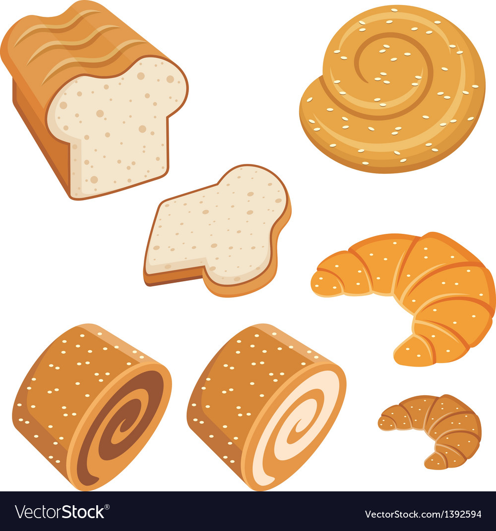 Set of loaves and bread vector | Price: 1 Credit (USD $1)