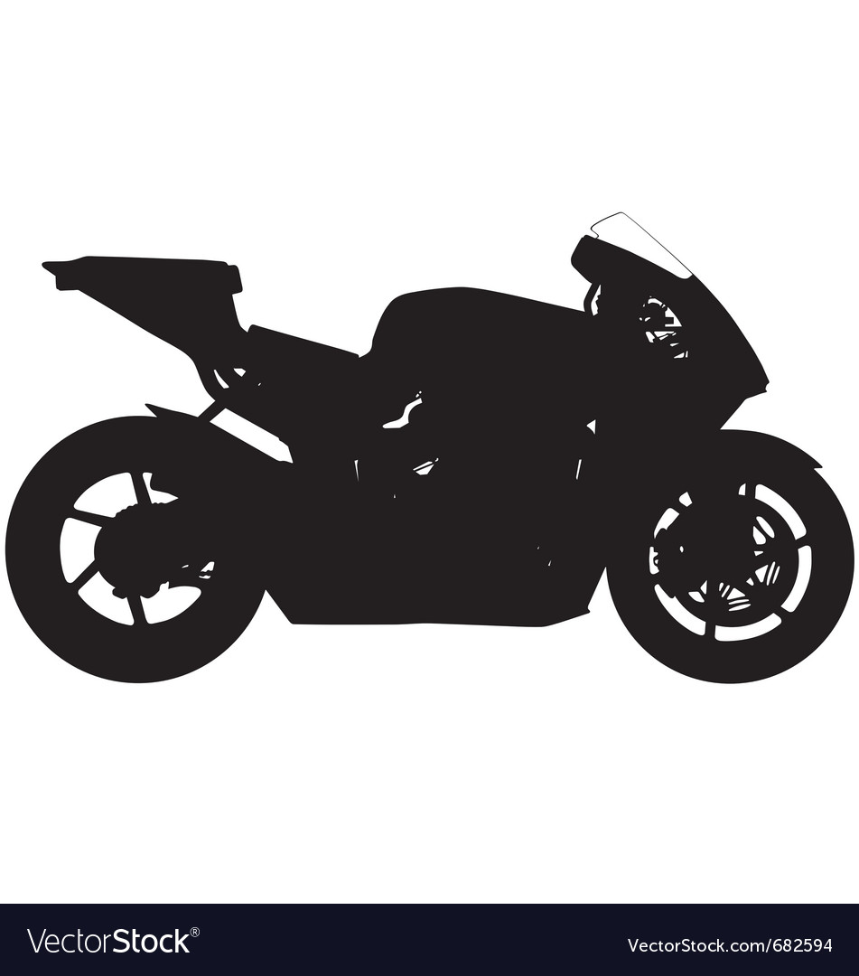 Sports motorbike silhouette vector | Price: 1 Credit (USD $1)