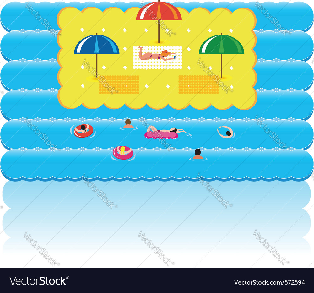 Summer holidays beach vector | Price: 1 Credit (USD $1)