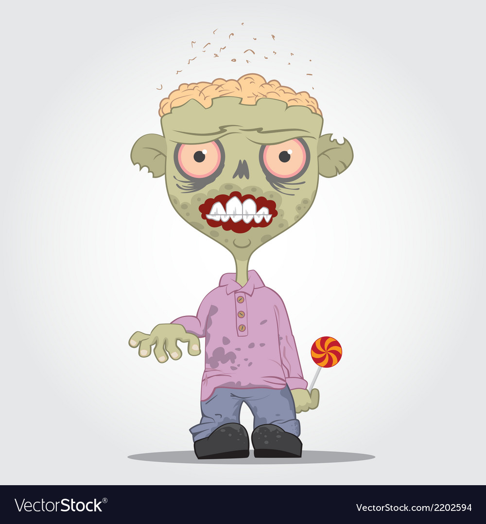 Zombie boy vector | Price: 1 Credit (USD $1)