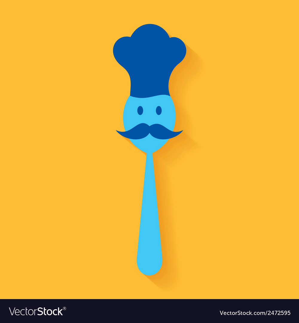 A chef made by spoon stock vector | Price: 1 Credit (USD $1)