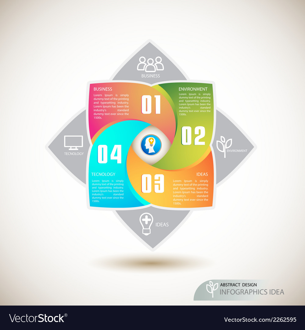 Abstract modern shape of flower infographics vector | Price: 1 Credit (USD $1)