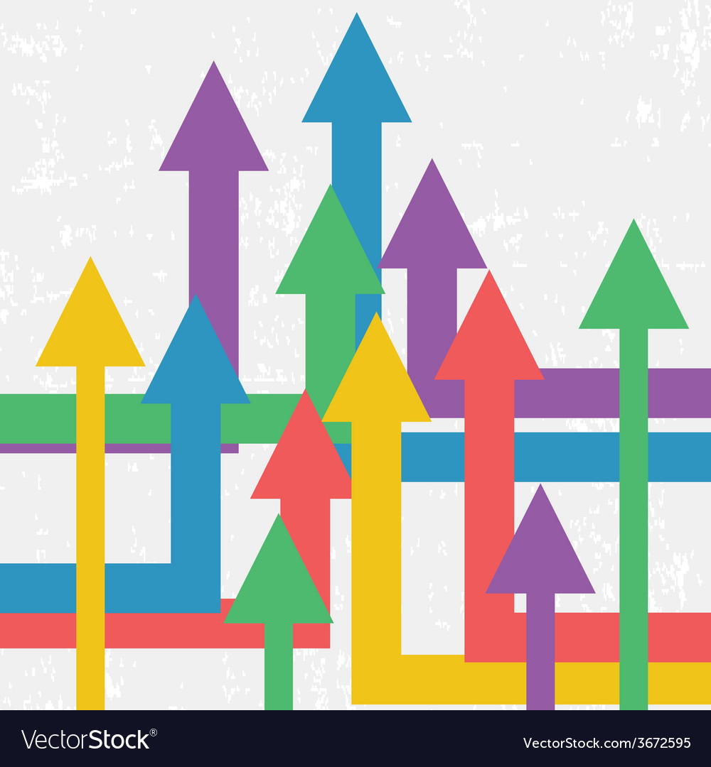 Arrows showing growth background retro business vector | Price: 1 Credit (USD $1)