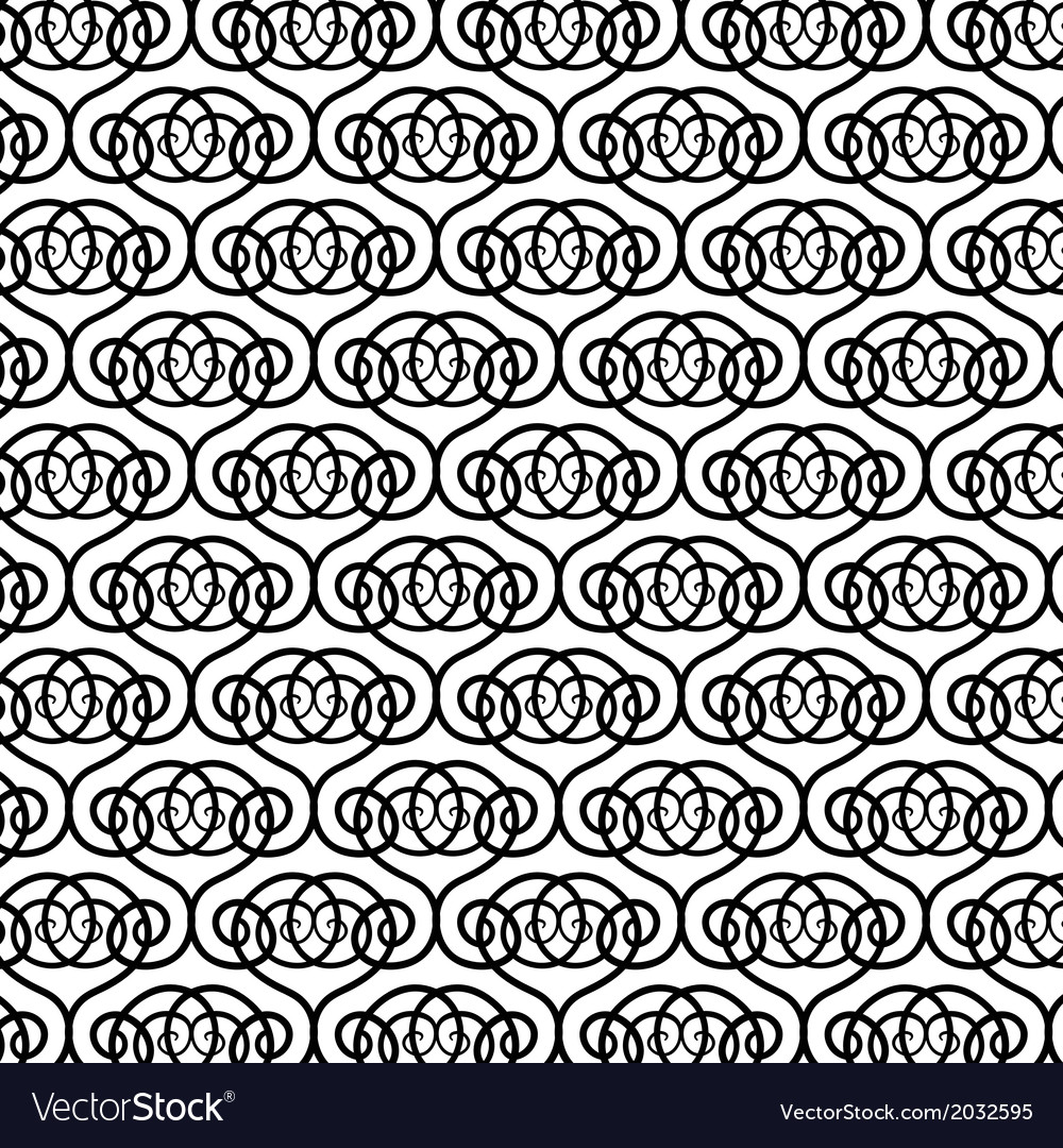Black and white pattern with round forms vector | Price: 1 Credit (USD $1)