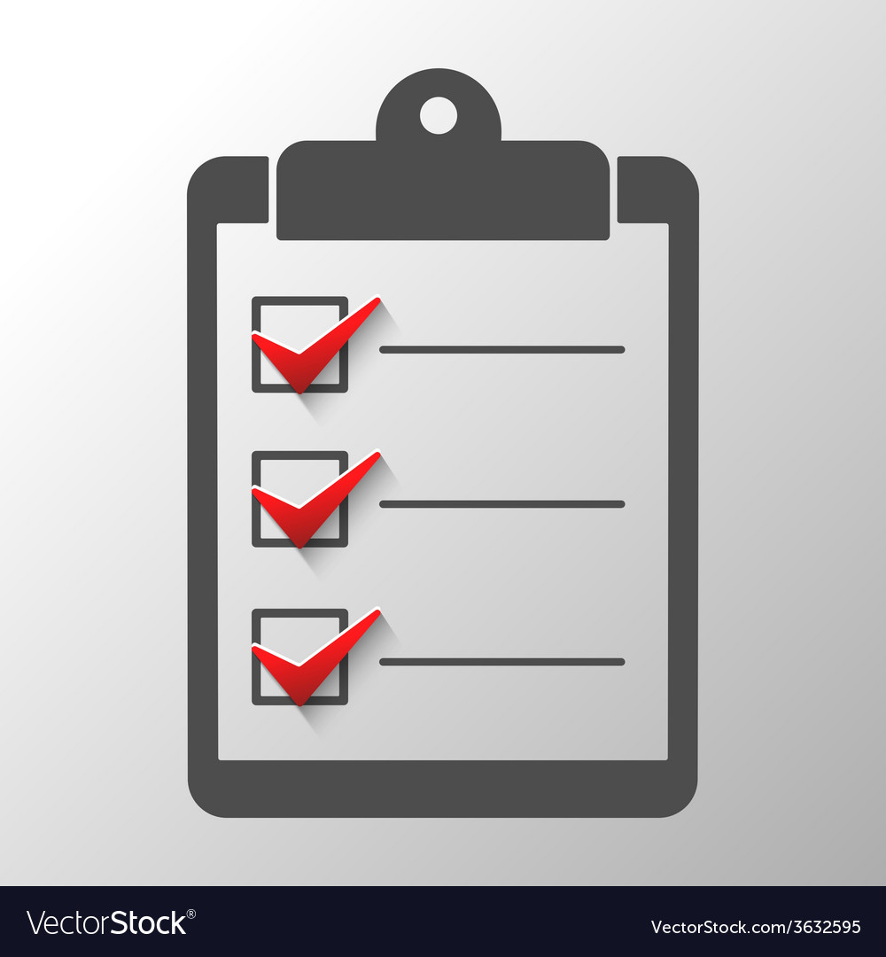 Check list vector | Price: 1 Credit (USD $1)