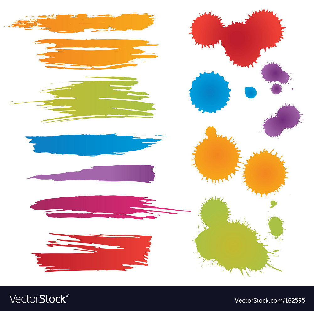 Colorful stains vector | Price: 1 Credit (USD $1)