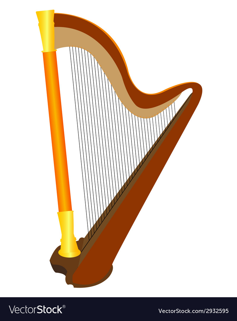 Instrument harp vector | Price: 1 Credit (USD $1)