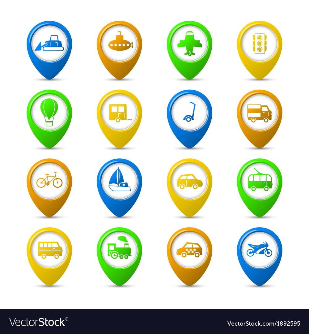 Navigation pins vector | Price: 1 Credit (USD $1)