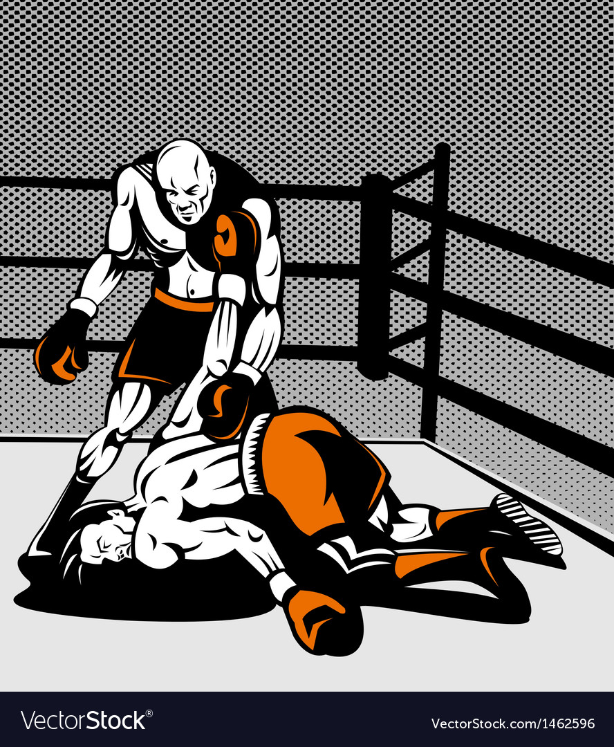 Boxer connecting knockout punch vector | Price: 1 Credit (USD $1)