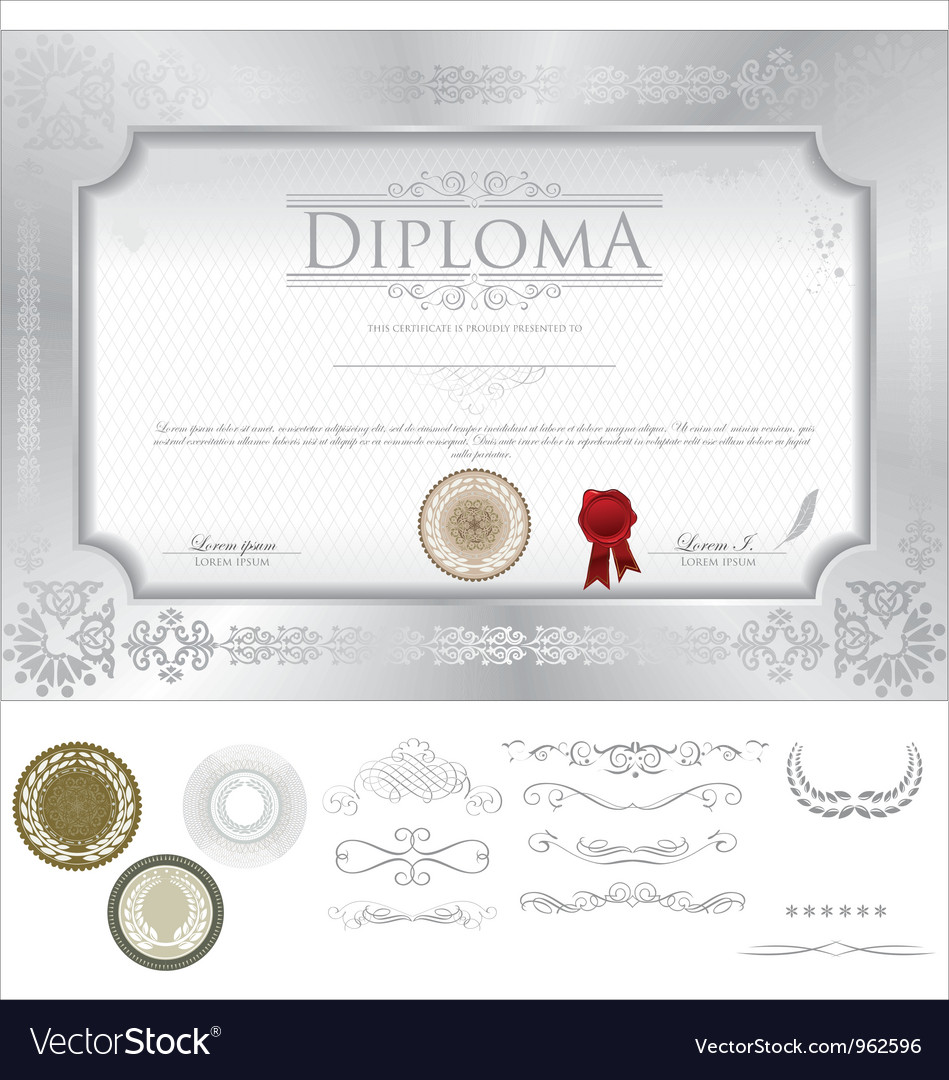 Diploma template vector | Price: 1 Credit (USD $1)