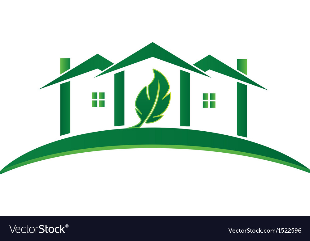 Green house ecology concept logo vector | Price: 1 Credit (USD $1)