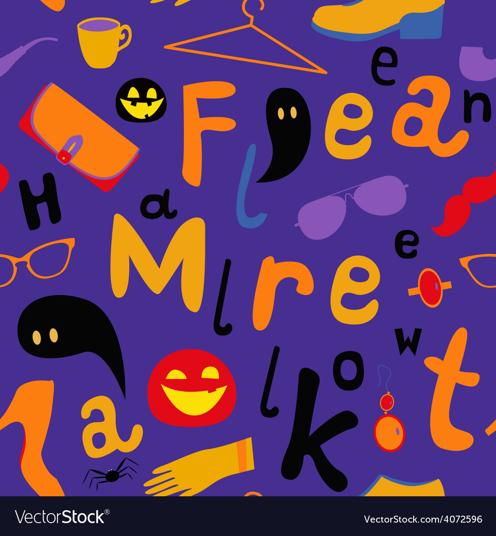 Halloween market seamless pattern vector | Price: 1 Credit (USD $1)