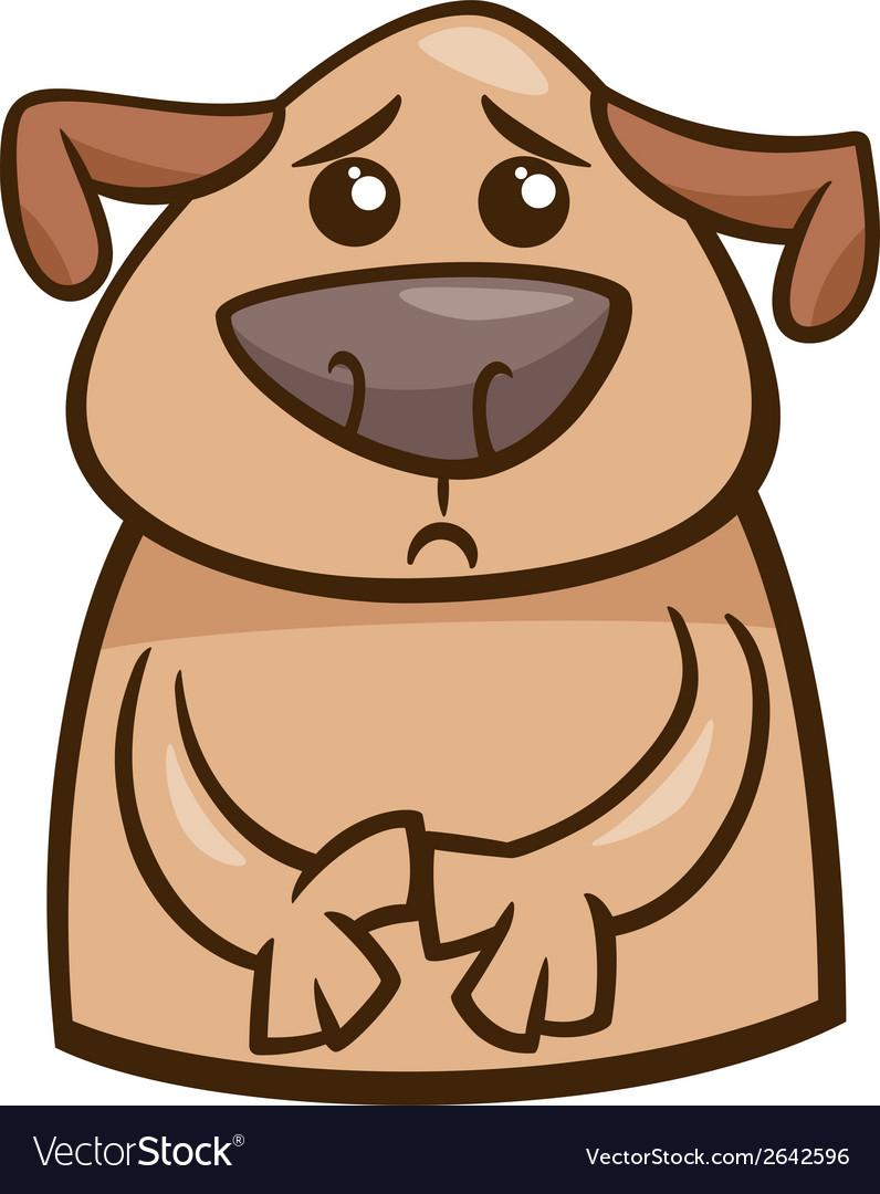Mood sad dog cartoon vector | Price: 1 Credit (USD $1)